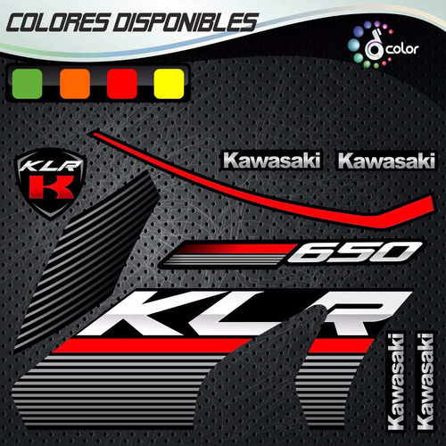 kit calcomanias kawasaki klr 650 edicion especial.