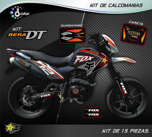 kit calcomanias klr, um dsr, empire tx, bera dt, laminados