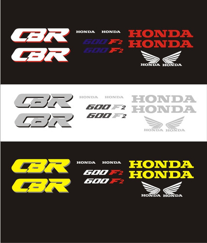 kit calcomanias moto honda cbr 600 f2 1993