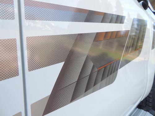 kit calcos franja laterales hilux  srx srv 2016  oracal 4x4