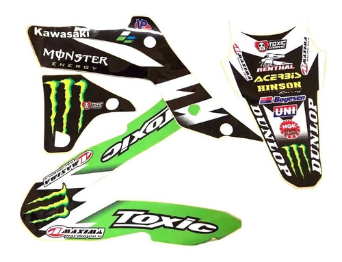 kit calcos grafica 3m toxic kawasaki kxf 450 13/15 outlet