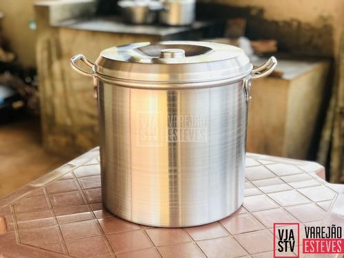 kit caldeirão hotel n30 e panela de alumínio fundido n50