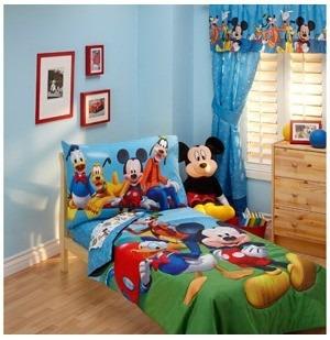 kit cama infanil niño edredon sabanas almohada mickey friend