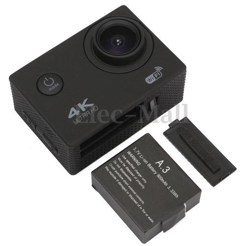 kit cámara deportiva wifi 4k resiste al agua y accesorios