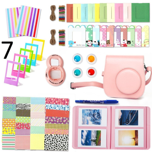 kit camara fujifilm instax mini 9 8 8+ colores basicos