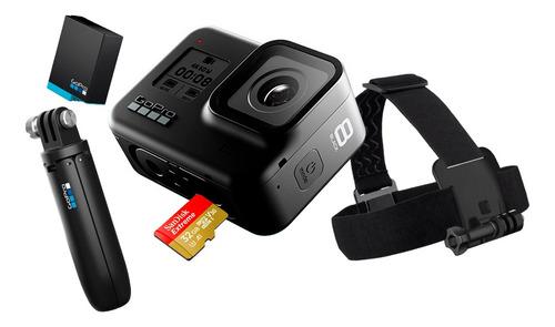 kit cámara gopro hero 8 holiday black impermeable