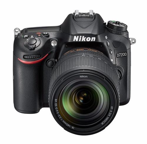kit cámara profesional reflex nikon d7200 c/18- 140mm vr