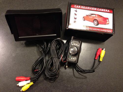 kit cámara visión nocturna y monitor reversa (envío gratis)