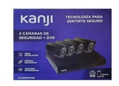 kit camaras con dvr kanji c/disco 1tb- aj hogar