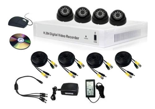kit camaras de seguridad 4 canales 700 lineas infraroj