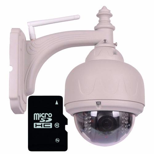 kit camaras ip wifi x4 domo exterior vigila hd p2p onvif 720