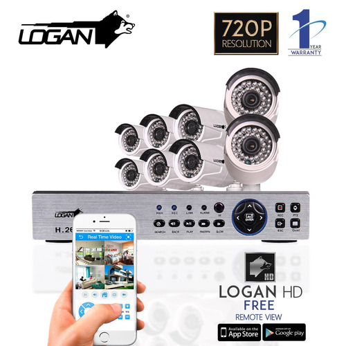 kit camaras seguridad 16 canales 16cam hd 720p 1mp ahd logan