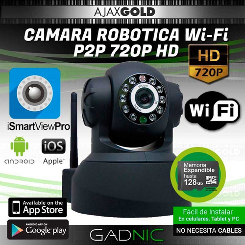kit cámaras seguridad 2 interior domo motorizado p2p ip hd