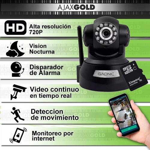 kit cámaras seguridad 4 interior domo motorizado p2p ip hd