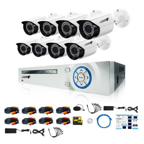kit camaras seguridad dvr ahd 16 canales 8cam 720p 1mp logan