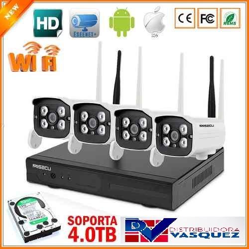 kit cámaras seguridad inalámbrico full hd vigilancia wifi ip