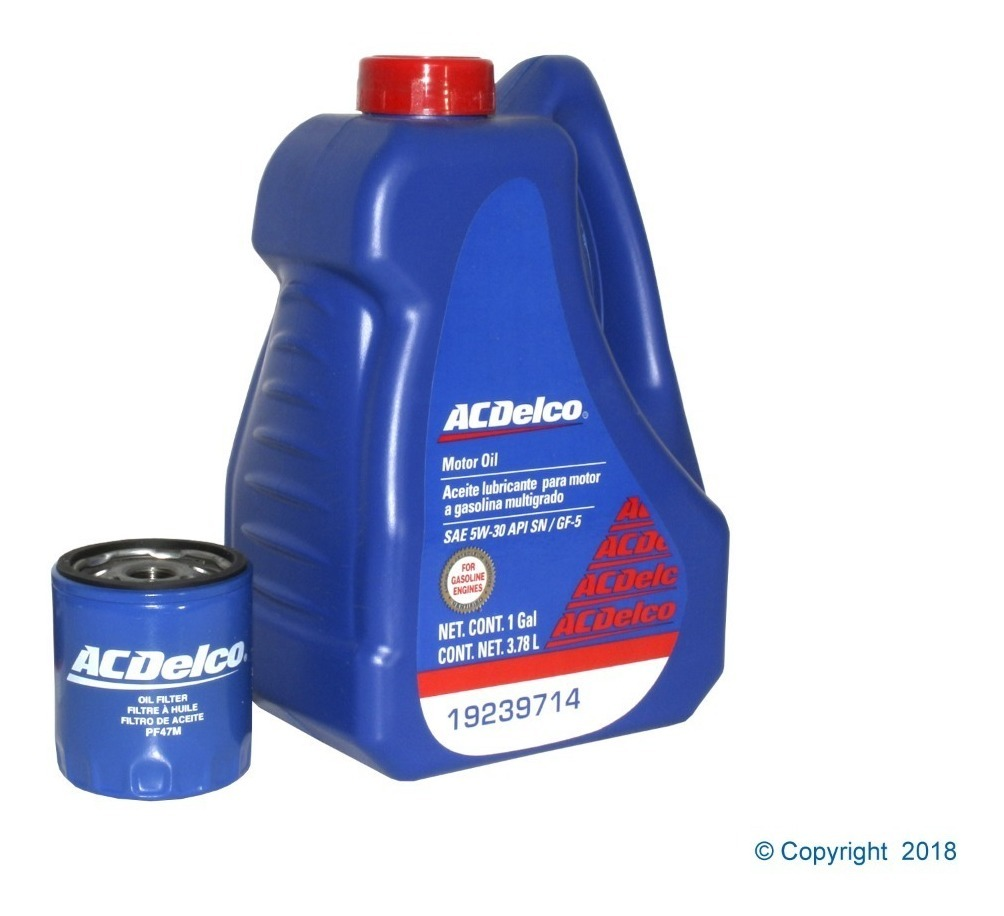 Kit Cambio Aceite 5w30 Vehiculos Gm Aveo Chevy Corsa 389 00