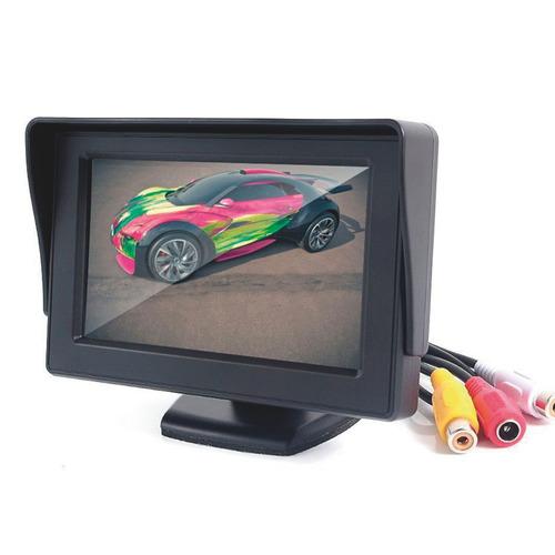 kit camera de ré visão noturna  monitor lcd veicular 4.3 k85