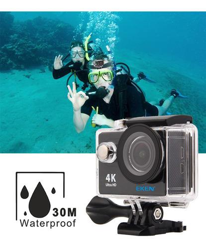 kit camera eken h9r 4k 32gb prancha surf bóia pulso bastão