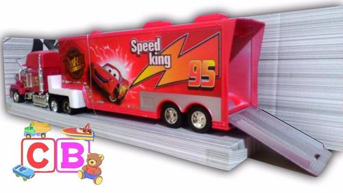 kit caminhão carreta mcqueen mack + 6 carrinhos  de brinde