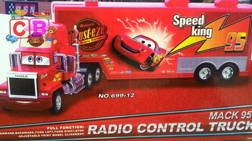 kit caminhão carreta mcqueen mack + 8 carrinhos e 2 aviões