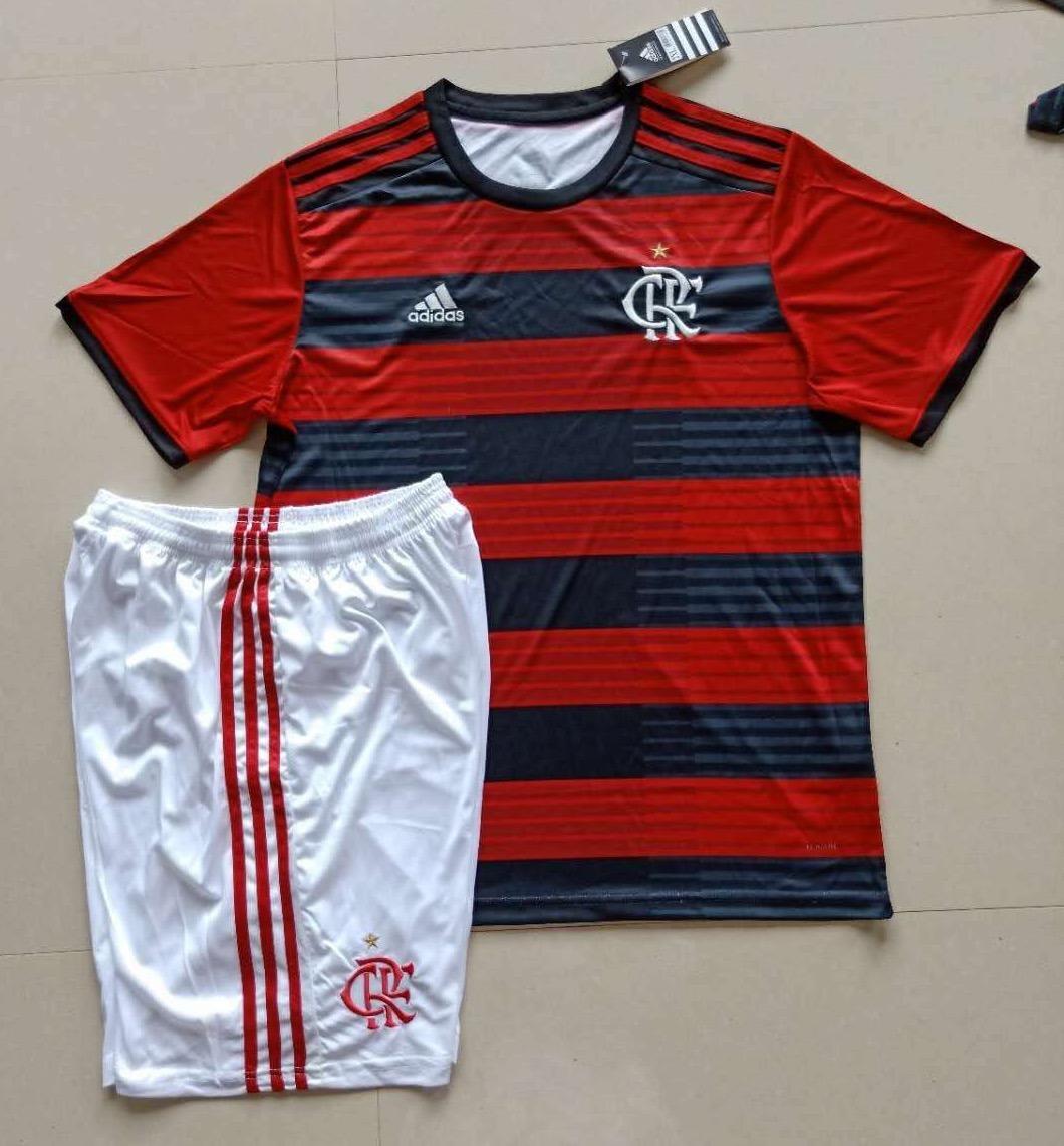 kit camisa com short flamengo 2018 19 - frete grátis. Carregando zoom. 1d5f2ab2ccec7