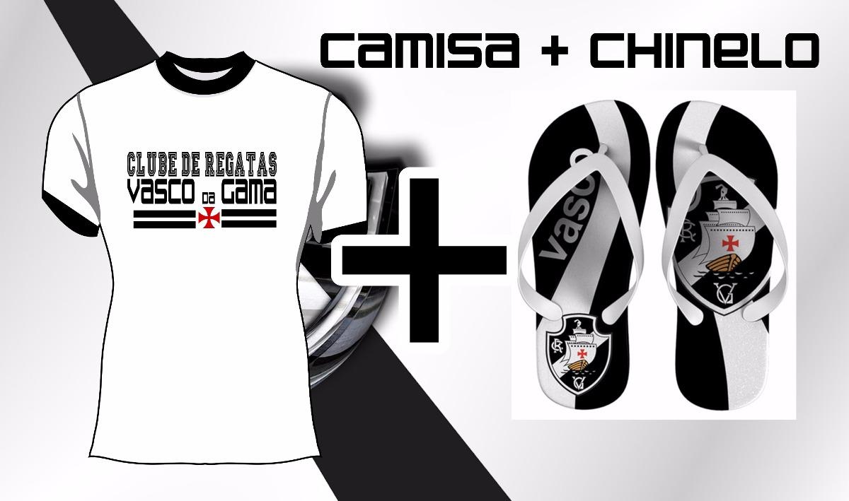 kit camisa e chinelo vasco da gama camiseta. Carregando zoom. ac3a7af3fa020