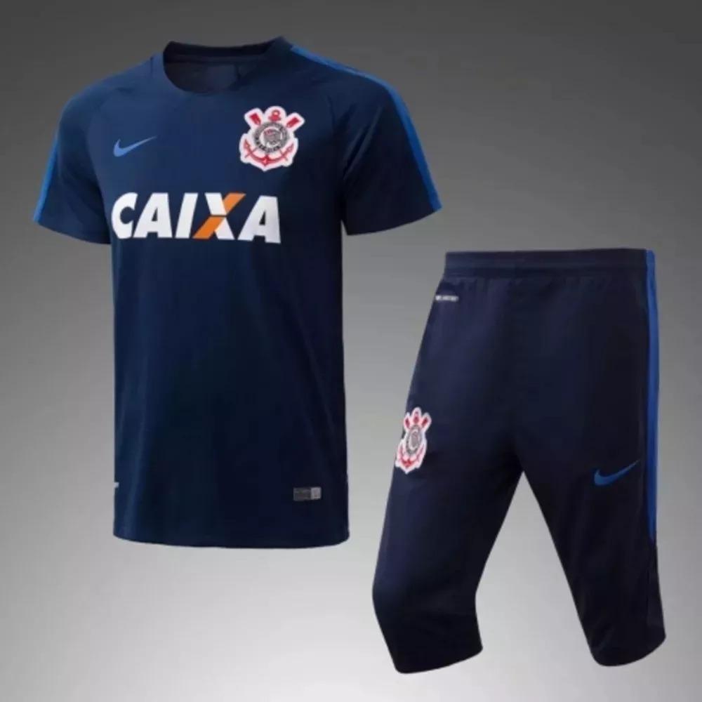 Kit Camisa E Shorts De Treino Corinthians Promoção - R  159 a21c1cbd5f003