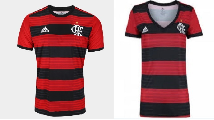 e36f3aa780644 Kit Camisa Flamengo Masculino E Feminino Lançamento Promoção - R ...