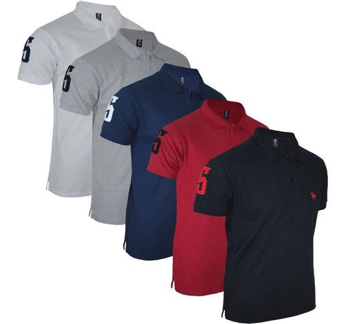 kit camisa polo masculina  bordado original polo rg518