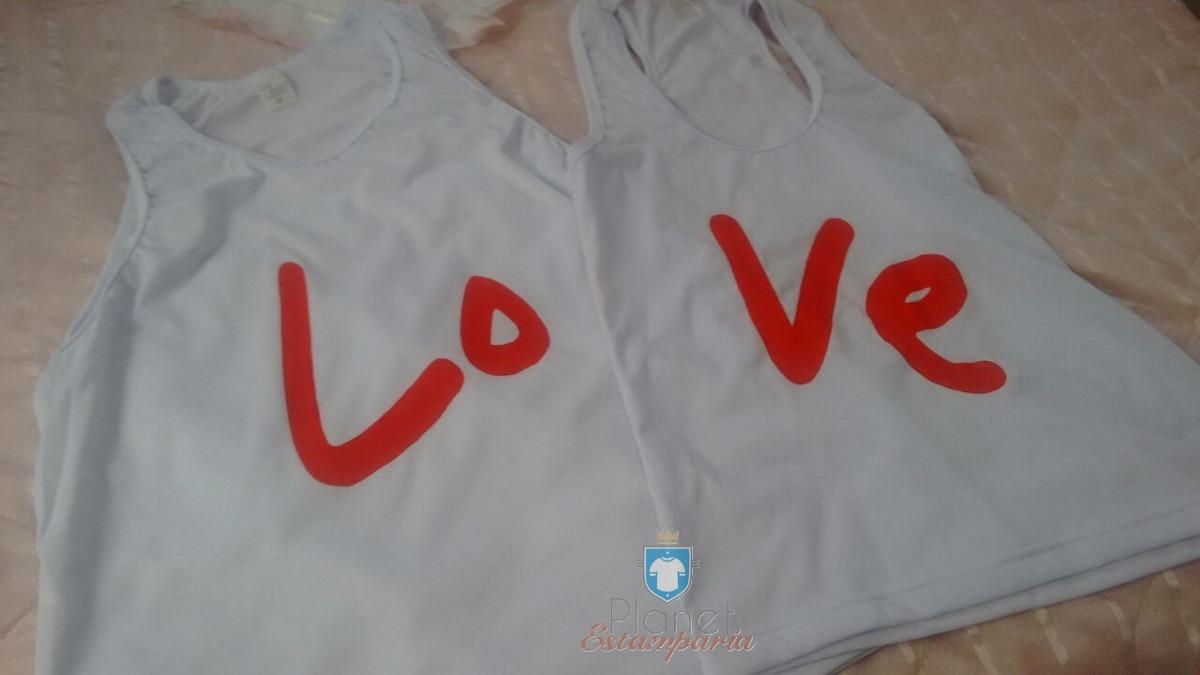Kit Camisa Regata Love Youtube Casal - R  38 bb97efa3218