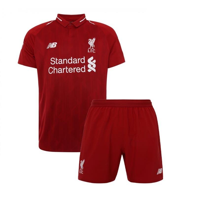 Kit Camisa Shorts Infantil Criança Liverpool 2018 Encomenda - R  154 ... bc731833a952f