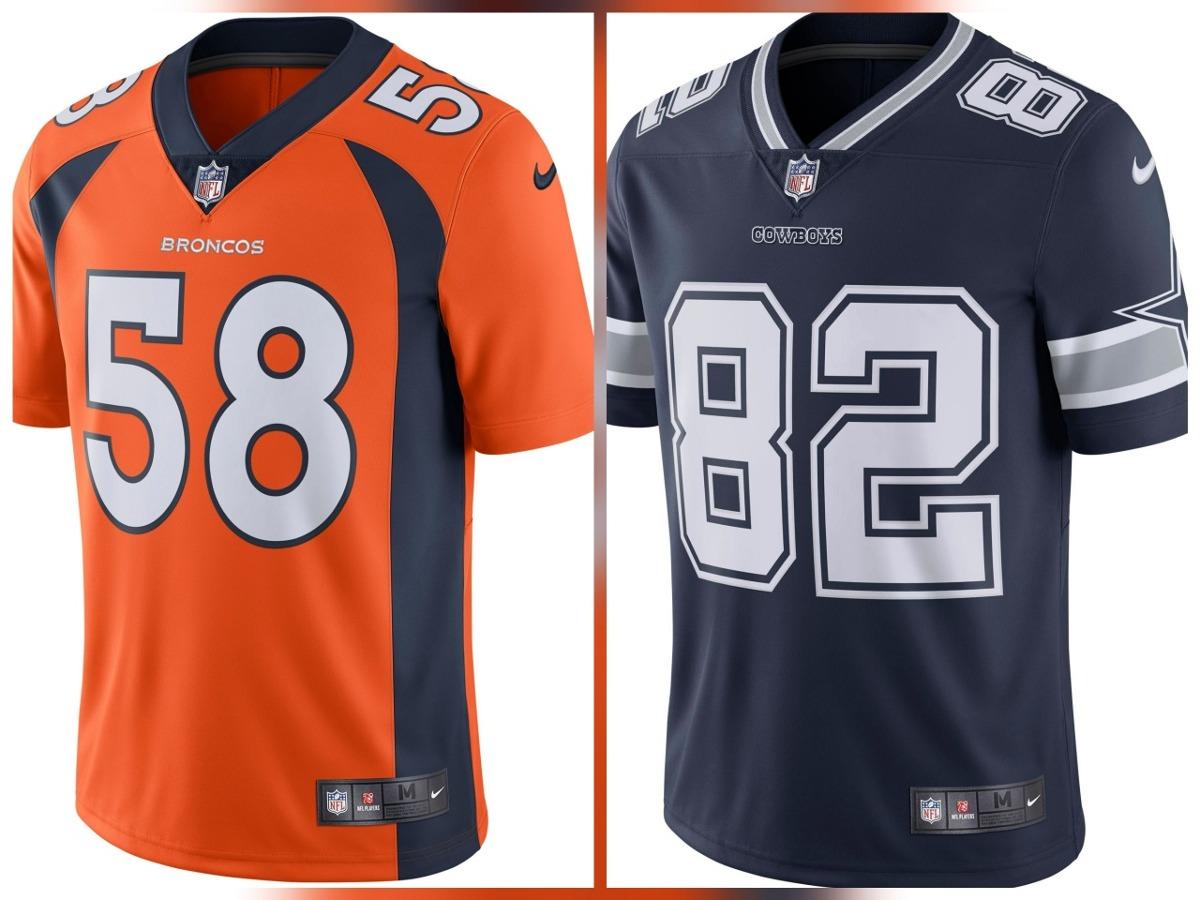 3a28c0303 kit camisas nike nfl denver broncos   dallas cowboys. Carregando zoom.