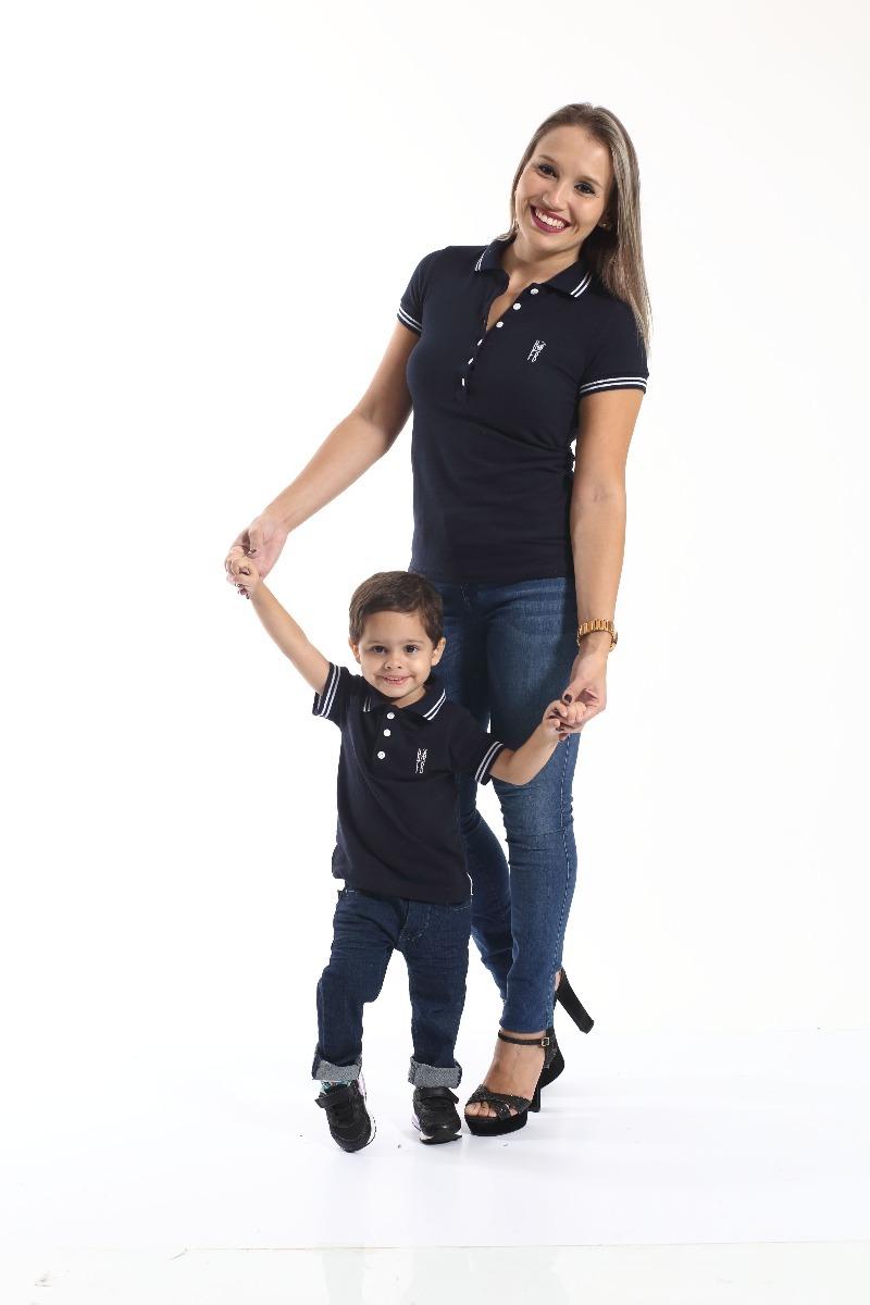 fc7af4e161 kit camisas polo tal mãe tal filhos. Carregando zoom.