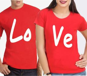 7eff6673311c5f Kit Camiseta+baby Look Casal Love 100% Algodão