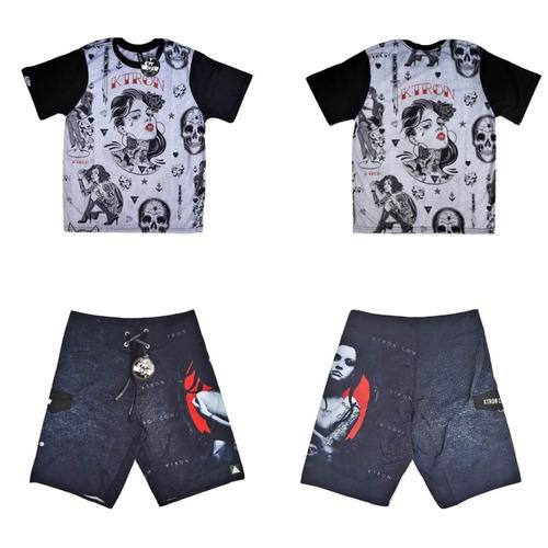 kit camiseta + bermuda poliéster  - ktron comp - 05