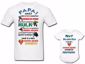 a7747310a Camiseta Pai Super Heroi no Mercado Livre Brasil