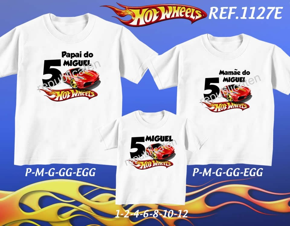 Kit camiseta carros hot wheels aniversario festa kit com jpg 960x750 Kit  camiseta 8da67ddab4351