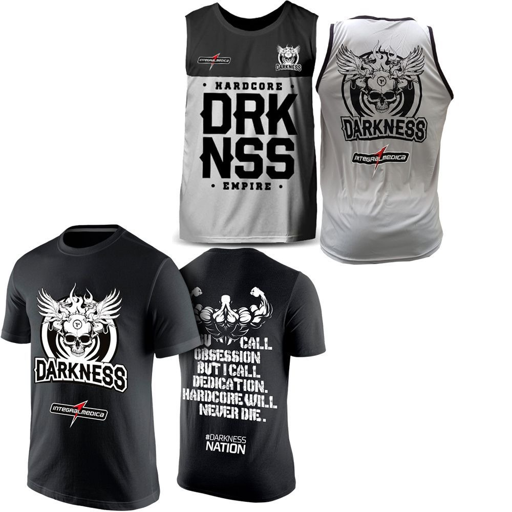29e0731a0d kit camiseta darkeness preto + regata darkeness cinza. Carregando zoom.