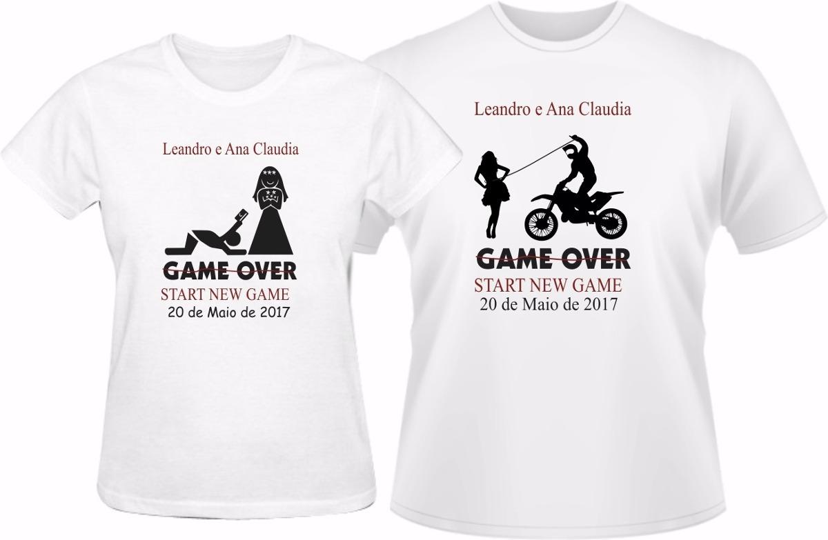 7a9f04e30 kit camiseta despedida de solteiro game over 2 peças. Carregando zoom.
