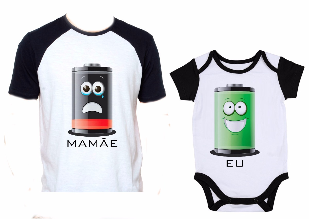 141dd731979f04 Kit Camiseta E Body Tal Mãe Tal Filha Filho Energia