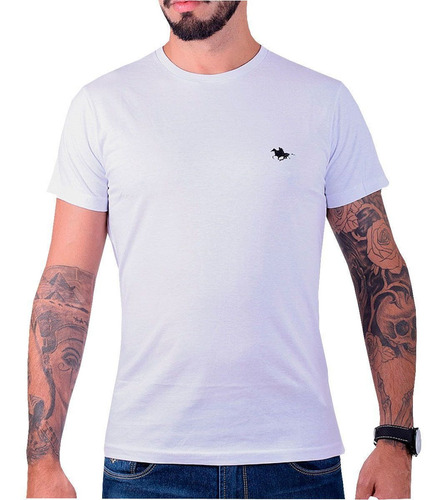kit camiseta masculina básica rg518 polo