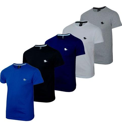 kit  camiseta masculina blusa slim basic 5 cores