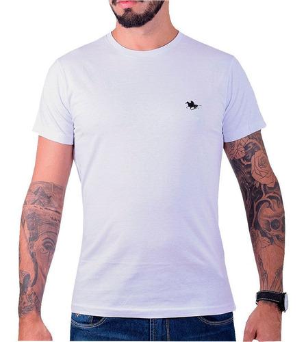 kit camiseta masculina lisa básica com bordado especial polo