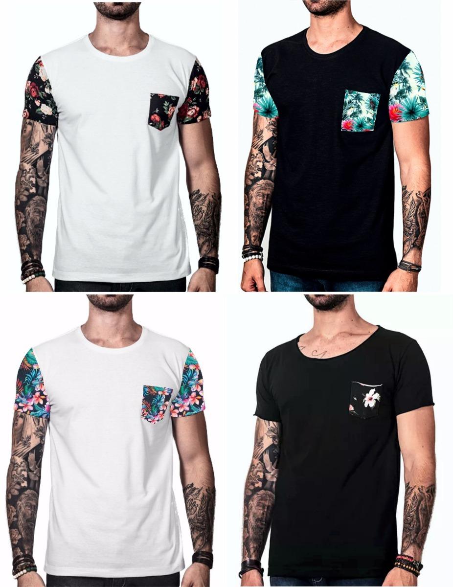kit camiseta masculina swag oversized camisa floral 4 pçs. Carregando zoom. 860d9d46b36