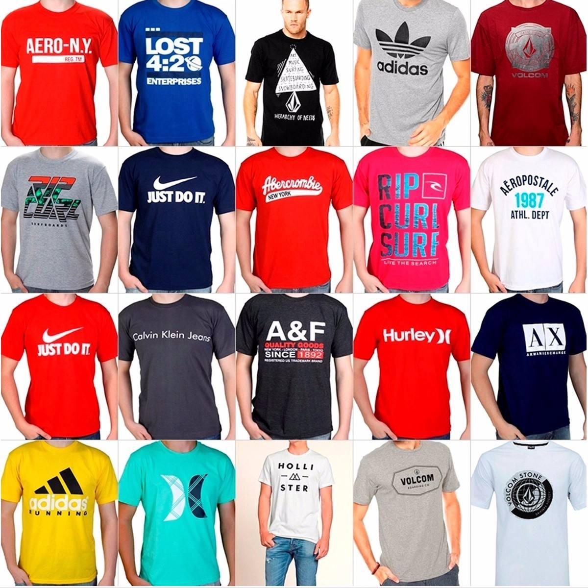 Kit Camiseta Masculino Marca Lote Grife 7 Unidades F Gratis - R  159 ... 507503e0beb