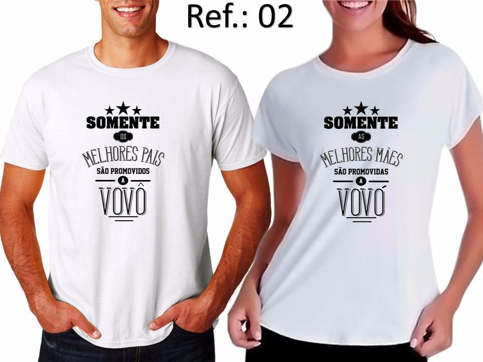 44210b71e9e5c8 Kit Camiseta Os Melhores Pai Mãe São Promovidos A Vovô Vovó