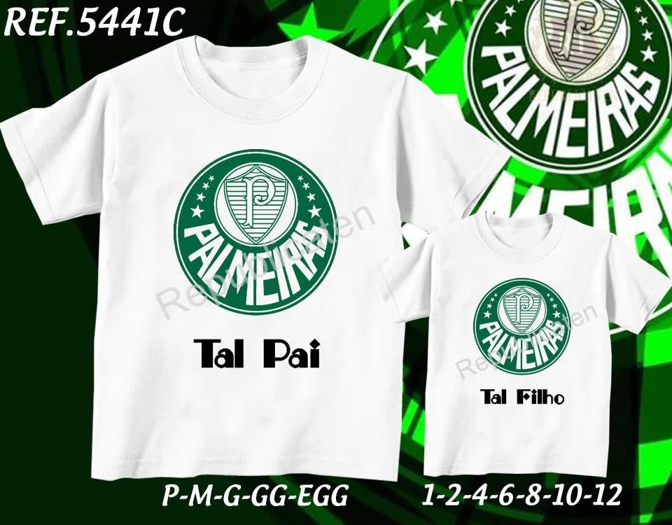 fcff229053 kit camiseta palmeiras tal pai tal filho times corinthians. Carregando zoom.