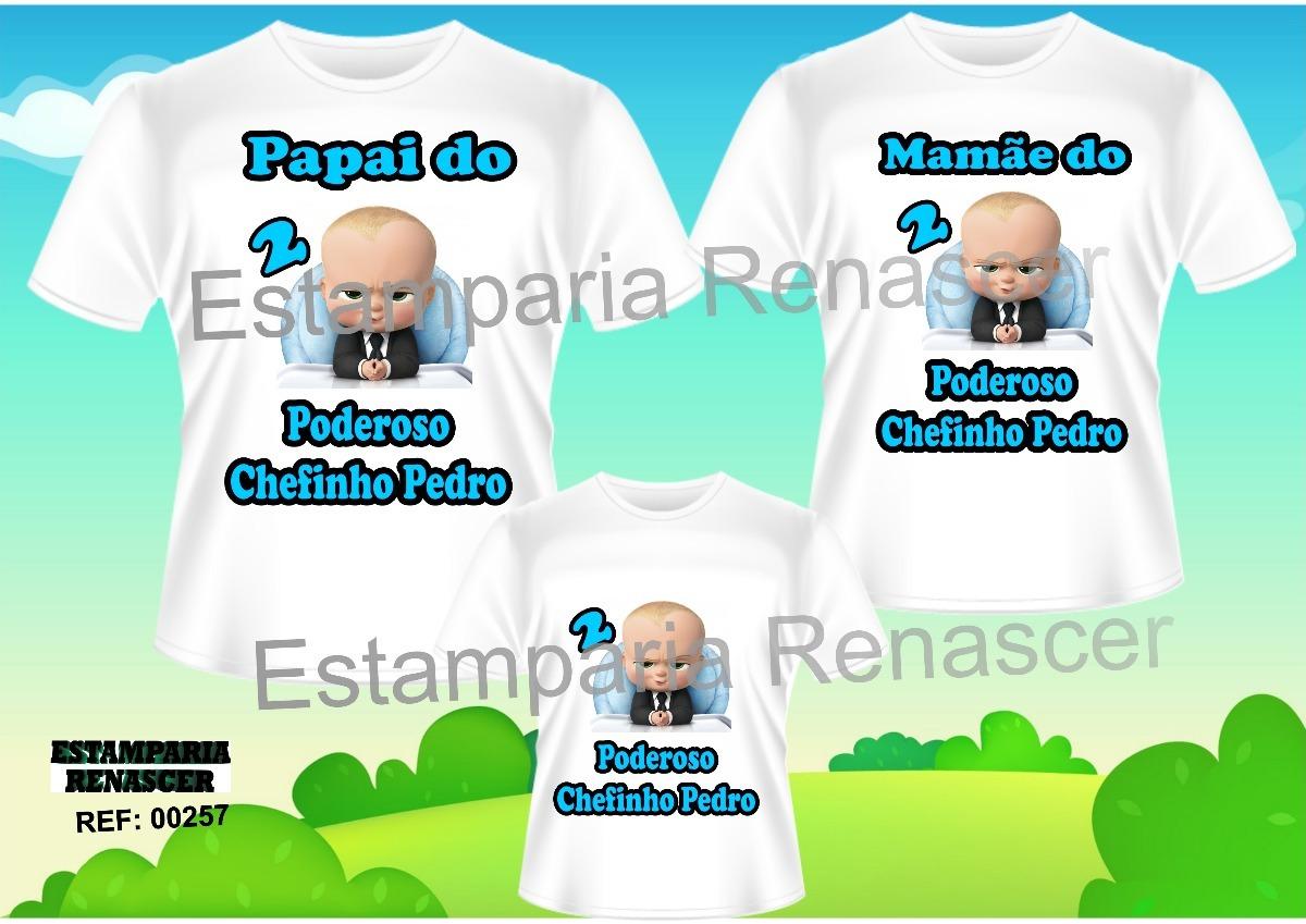 kit camiseta personalizada aniversario poderoso chefinho c3. Carregando  zoom. 3c9f2629de8