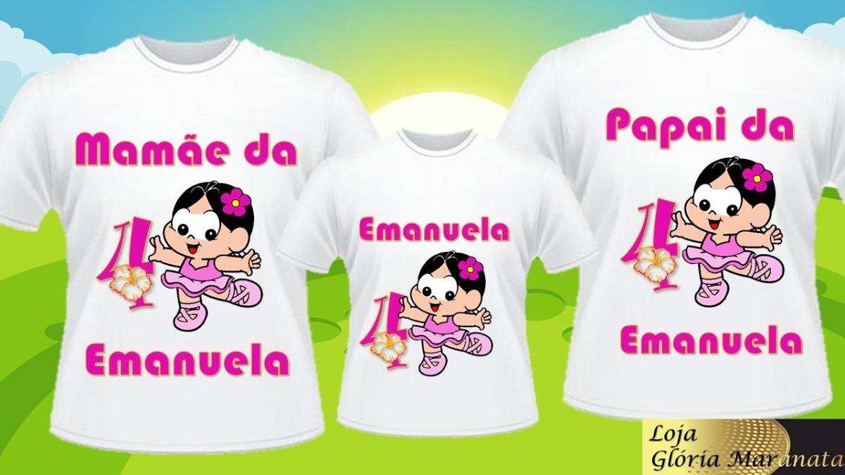 a70ca297d kit camiseta personalizada magali para familia 3 uni. Carregando zoom.